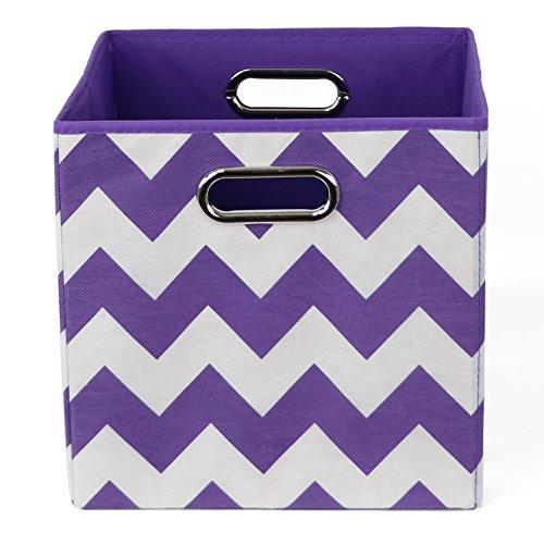 Modern Littles BRISTOR101 Color Pop Chevron Folding Storage Bin Purple