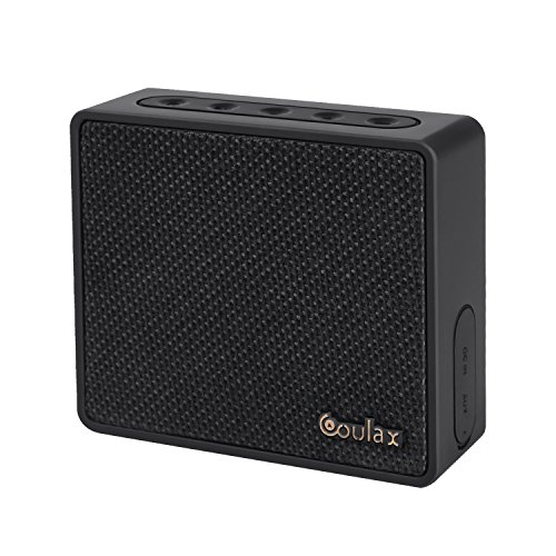 roycase CX08 Wireless Bluetooth V4.0 Mini Cuber Speakers, Powerful Sound with Enhanced Bass, Waterproof, 8 Hours playtime, Handsfrees, Black