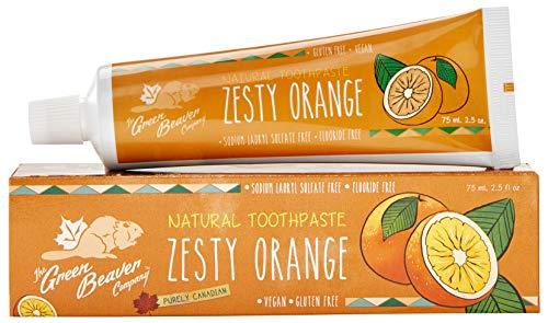 Green Beaver Fluoride Free Natural Toothpaste 3-Pack (Zesty Orange)