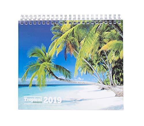 Grupo Erik Editores CS19020 Tafelkalender 2019 Tropical Paradise 17 x 20 cm