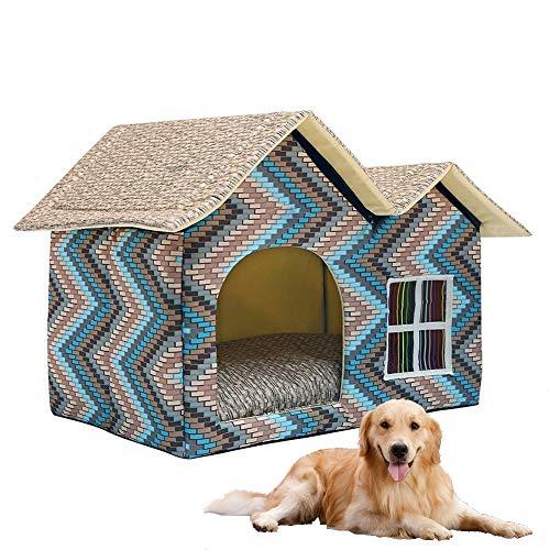 DYYTR Indoor Katzenhaus/EIN extra Stabiler Covered Innenkatze-Bett-Wohnung zusammenklappbarer/Pet House Shelter für Hunde und andere Haustiere zu,Four