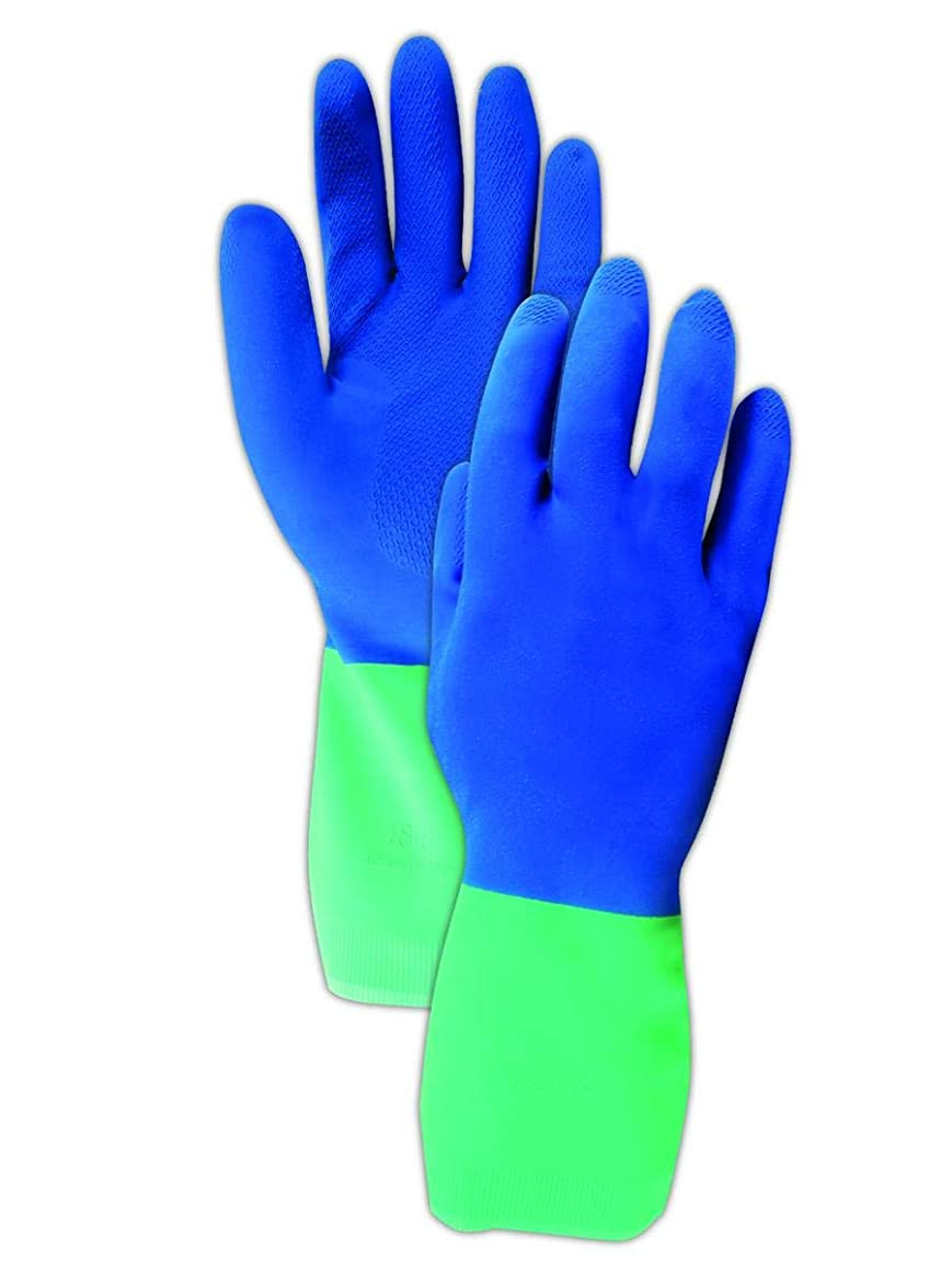 MAPA 293420 Protector Flock-Lined Nitrile Glove, Xx-Large, Blue (Pack of 72)
