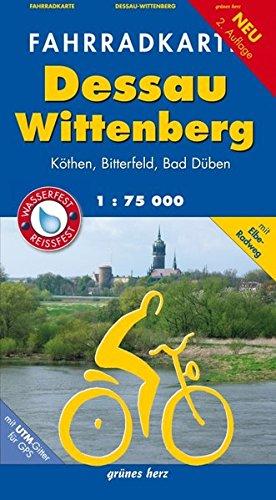 Fahrradkarte Dessau, Wittenberg: Mit Elbe-Radweg. Mit UTM-Gitter für GPS. Maßstab 1:75.000. Wasser- und reißfest.: Mit Elbe-Radweg. Für Pedelec und ... Mit UTM-Gitter für GPS (Fahrradkarten)