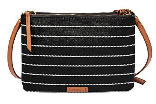 Fossil Damen Handtasche Tasche Schultertasche Devon Crossbody Schwarz ZB7417-005