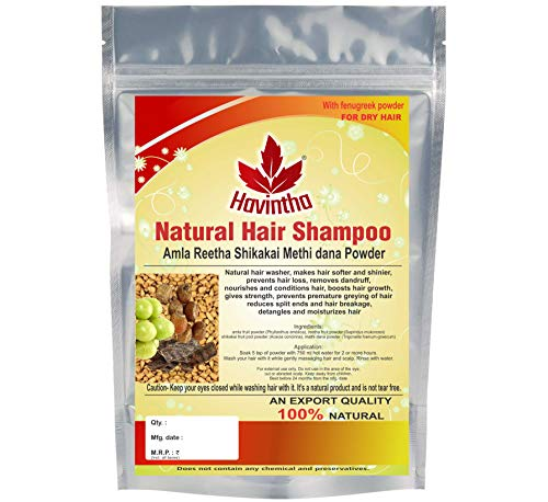 Havintha Natural Hair Shampoo With Amla, Reetha, Shikakai and Methi Dana (Advanced Shampoo), 227 g