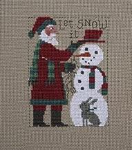 2018 Schooler Santa Cross Stitch Chart and Free Winter Embellishment
