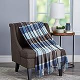 Lavish Home Faux Cashmere Acrylic Throw Blanket, Allure Plaid