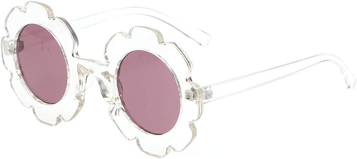 Suerhatcon Kids 1 year warranty Sun Glasses Anti-UV400 Same day shipping Frame Flower Lovely Round