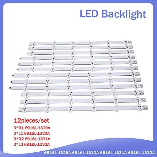 1 Set=12 Pieces LC550DUN LED Strip 691 R1 55