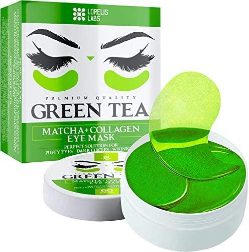 Green Tea Matcha Under Eye Patches with Collagen and Hyaluronic Acid Hydrating Eye Pads for product image