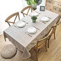 テーブルクロス、防水、火傷防止、耐油性、ウォッシュフリー、長方形、布綿とリネン、小さなフレッシュコーヒーテーブルクロス、テーブルクロス