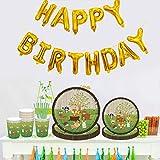 Amycute 69 -teiliges Kindergeburtstag Deko Set - Tiere Teller Becher Servietten Tischdeko für Geburtstag Kindergeburtstag Mottoparty, Tischdeko Partygeschirr Set für 8 Personen. - 7