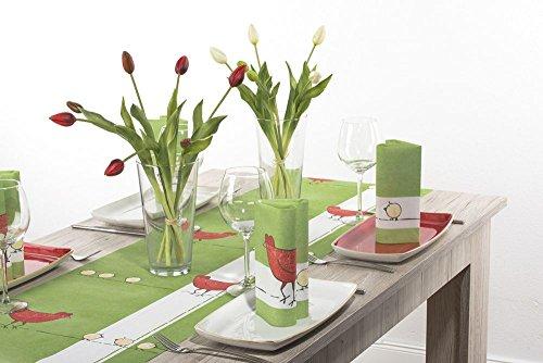 Sovie Home Linclass® Airlaid Tischläufer Tiffy   Hingucker für Frühlingsbrunch und Osterzeit   40cm x 4,80m   1Stück