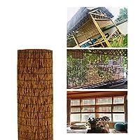 炭化竹ブラインド-リードロールアップシェード-リフティングストローカーテン-窓用レトロカーテン、手織り/抗紫外線/断熱/取り付けと清掃が簡単。,Carbonized-47x71in/120x180cm