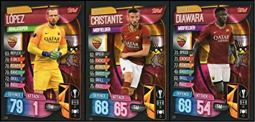 MATCH ATTAX 19/20 AS Roma Full 3 Card Team Set