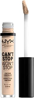NYX PROFESSIONAL MAKEUP Can't Stop Won't Stop Concealer, Light Ivory