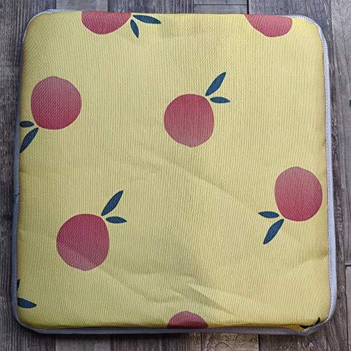 HDKDAS Seat Cushion Chair Cushions Ice Silk Cushion Car Seat Cushion-40 * 40 * 5cm_orange Cushion Pads Seat Pads (Color : 3, Size : 40 * 40 * 5cm)
