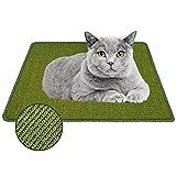 Xnuoyo Alfombrilla Scratcher Cat, Alfombrilla Rascadora para Gatos de Sisal Natural, Almohadilla para Gato, Cuidado de Las Patas del Gato, Protege Alfombras y Sofás (60x40cm, Verde)