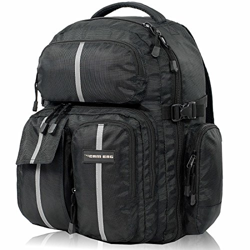Kamerarucksack CAMBAG Fotorucksack D-SLR Laptop Rucksack Kameratasche Schwarz - Auswahl (Bristol - Backpack XL)