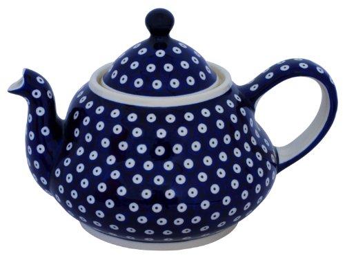Original Bunzlauer Keramik Teekanne 2.0 Liter mit integriertem Sieb im Dekor 42