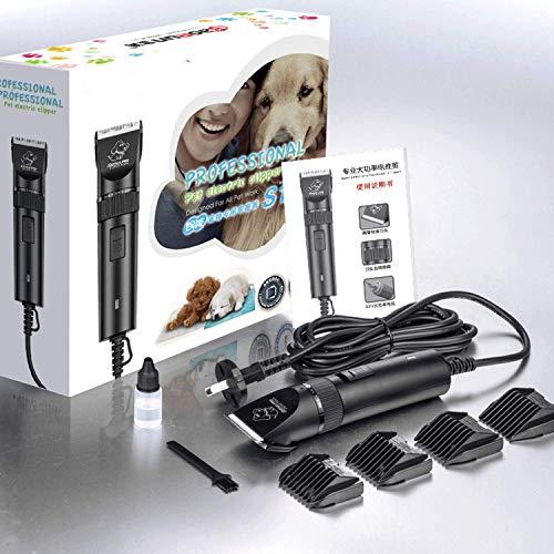BAORUN - Cortauñas de pelo para perros de 20 W eléctrica para perros de alta potencia profesional de aseo de mascotas animales de gato Clipper de mascotas máquina de afeitar de corte de pelo,