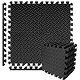 Buluri 12 Pack Puzzle Exercise Mat, Eva Foam Interlocking Tiles,Protective Flooring Mats for Gym Equipment, for Exercising, Yoga, Camping, Kids, Babies, Playroom,12X 12 Inch