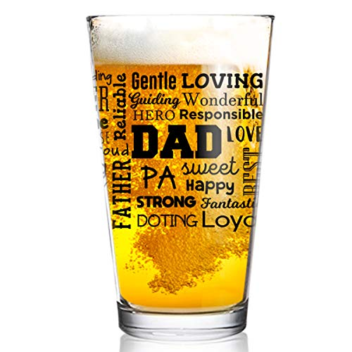 Inspirational Words Beer Glass