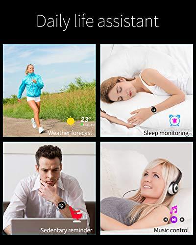 Smartwatch Fashion para Hombre Mujer Impermeable Reloj Inteligente Monitores de Actividad Fitness Tracker con Monitor de… 7