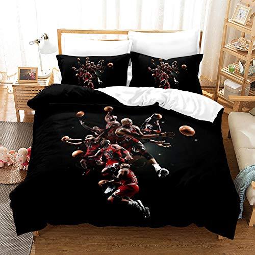 FAIEK Duvet cover Solid color bed linings basketball fan Basketball Phantom,King 200X200CM