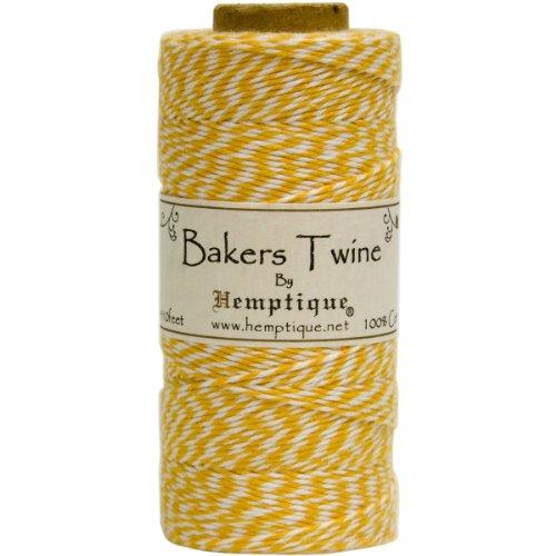Hemptique Bakers Twine - Bobina de Hilo de algodón de Fuerza Media (125 m, 50 g,...