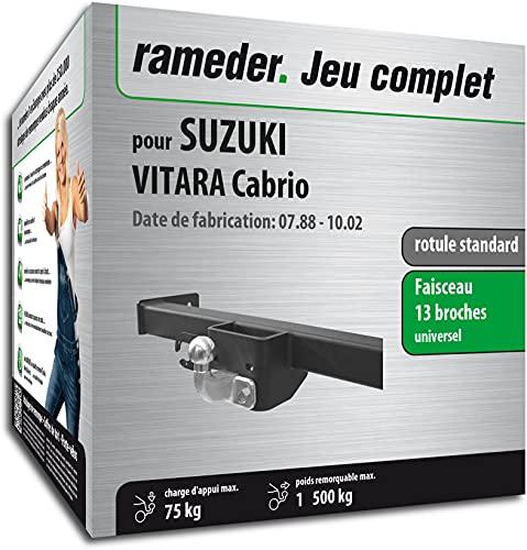 Rameder Pack, attelage rotule Standard 2 Trous + Faisceau 13 Broches Compatible avec Suzuki Vitara Cabrio (162658-01880-1-FR).