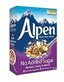 Weetabix Alpine Muesli sin azúcar añadido, Fresa, Arándano, Frambuesa - cereales de desayuno,...