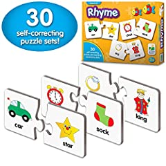 PLAY INDEPENDENTLY OR TOGETHER: 30 puzzle pairs give hours of fun and you can choose whether your child works with you to complete each pair or encourage them to develop important independent working skills. LEARN ABOUT RHYMES: This bright collection...