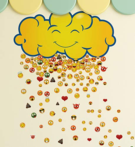 200 Raining Emojis Wall Decal Sticker. Great Party Favors and for Kid's Room. #6093