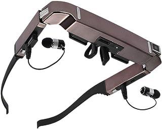 5MPカメラBluetoothのメディアプレイヤー、サポートTFカードとスマートWiFiのメガネ、快適な新しい3D VRメガネ、80インチのワイドスクリーンのプライベートシアター、