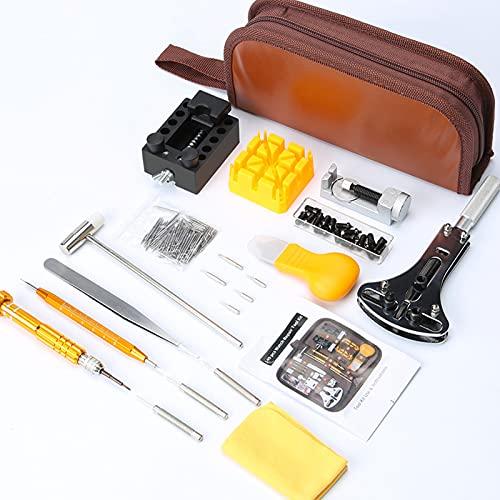 Ticfox 149pcs Kits de reparación de relojes Relojes Reemplazo de batería Correa de reloj Removedor de eslabones Herramientas de barra de resorte