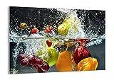 Quadro su vetro - Elemento unico - Frutta Acqua Splash cibo -...