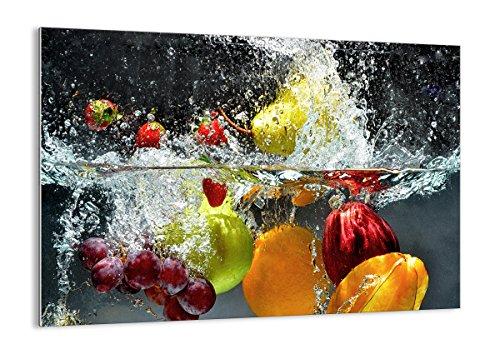 ARTTOR Quadro su Vetro - Elemento Unico - Frutta Acqua Splash Cibo - 70x50cm - Pronto da Appendere - Home Decor - Arte Digitale - Quadri Moderni in Vetro - Stampe da Parete - GAA70x50-2972