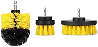 Practical 3pc Car Cleaning Brush Car Detailing Brush Drill Brush With Drill Attachment Tub Cleaner Scrubber Cleaning Brush...