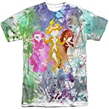 Adventure Time - Camiseta para hombre, diseño de tres mujeres, color blanco - Blanco - X-Large