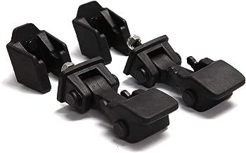A ABIGAIL TJ Hood Latch Hood Lock Catch Kit Fit for 1997-2006 Jeep Wrangler TJ Accessories 55176636AD, 68038118AA TJ Latches Catch Set