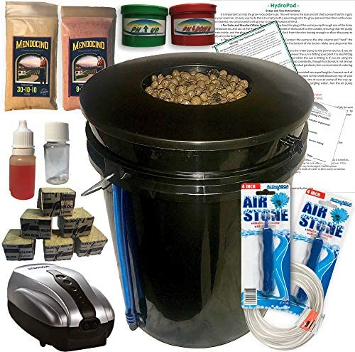 The Atwater HydroPod DWC Deep Water Culture Garden System Kit 5 Gallon Bubble Bucket Bubbleponics product image