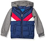 Perry Ellis Boys' Toddler Quilted Puffers, Estate Blue, 2T