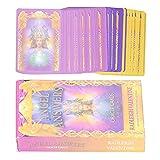 HAOX The Romance Angels Tarot Oracle Cards Deck, 44 Romance Angel Tarot Cards Juego de Futuro con Caja Colorida, Tarjeta de Juego de Mesa para la Fiesta de Amigos Familiares