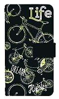 [AQUOS R6] スマホケース 手帳型 ケース デザイン手帳 アクオス アール シックス 8017-D. バイク黒白 かわいい 可愛い 人気 柄 ケータイケース
