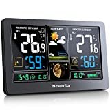 Newentor Weather Station with Outdoor Sensor Wireless, Digital Home Weather Stations Forecast, Temperature