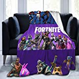 Fortnite Blanket Sherpa Throw Blanket Flannel Fleece Couch Quilted Blankets for Kids Adults