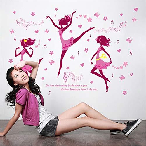 Tanzende Mädchen Aufkleber Tanz Klassenzimmer Nachttisch selbstklebende Tapete