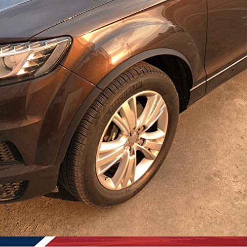 JCSPORTLINE JC-20130905 Arche de roue arrière extension de garnitures en PU Noir