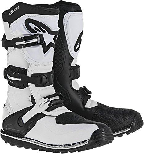 Alpinestars Herren Tech T Motocross-Stiefel, Weiß/Schwarz, 7